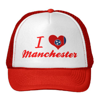 Eu amo Manchester Tennessee Bonés