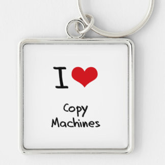 Eu amo máquinas da cópia chaveiro