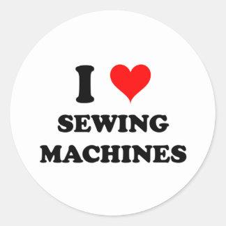 Eu amo máquinas de costura adesivo redondo