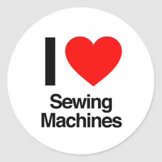 eu amo máquinas de costura adesivo