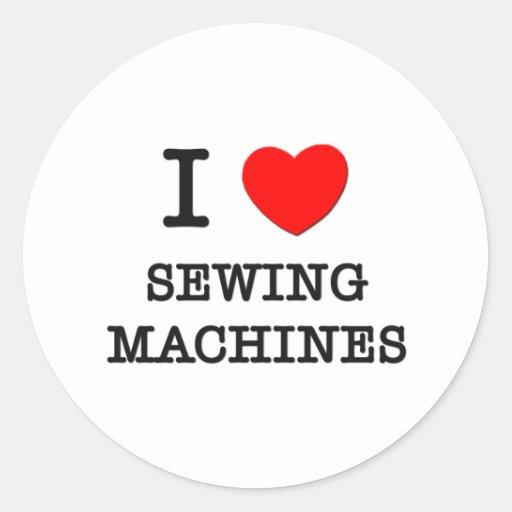 Eu amo máquinas de costura adesivo em formato redondo