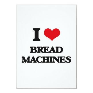 Eu amo máquinas do pão convite 12.7 x 17.78cm