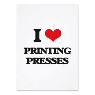 Eu amo máquinas impressora convite