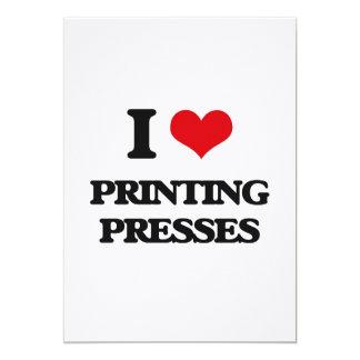 Eu amo máquinas impressora convite personalizado