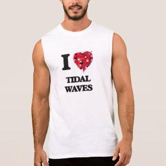 Eu amo maremotos camisetas sem manga