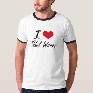 Eu amo maremotos t-shirts