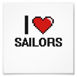 Eu amo marinheiros impressão de foto