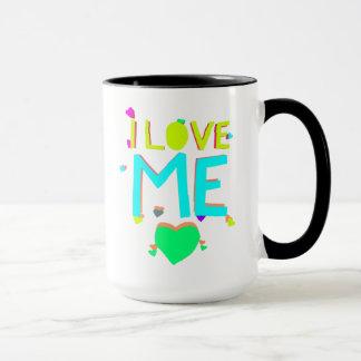 Eu amo-me caneca de café engraçada do provérbio