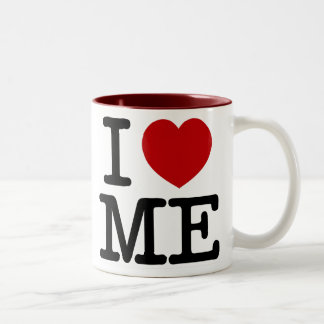 Eu amo-me coração mim dignidade da confiança do caneca de café em dois tons
