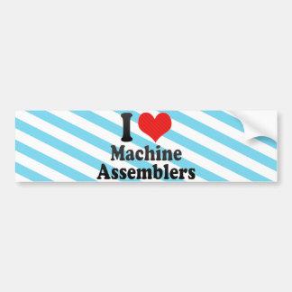 Eu amo mecânicos de máquina adesivo