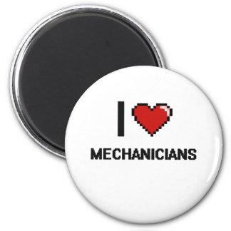 Eu amo Mechanicians Ímã Redondo 5.08cm