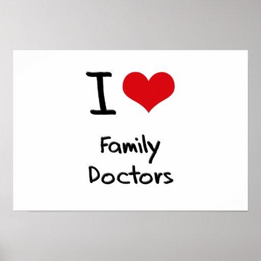Eu amo médicos de família posters