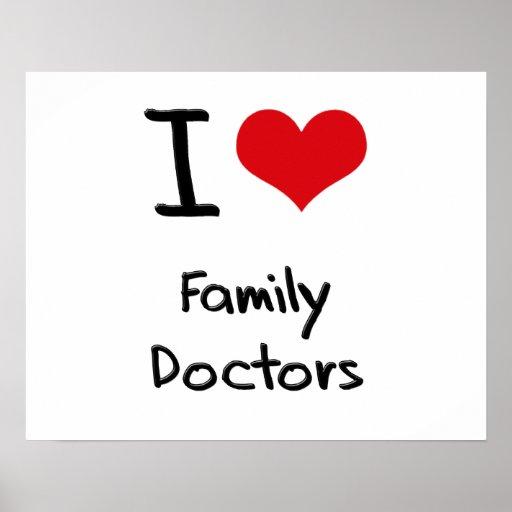 Eu amo médicos de família posteres