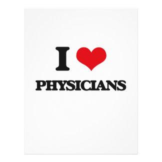 Eu amo médicos modelo de panfleto
