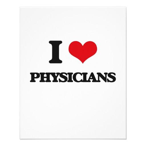 Eu amo médicos panfleto personalizados