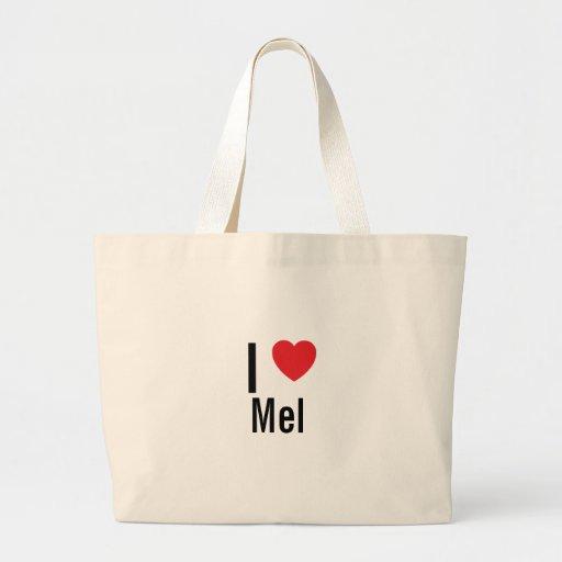 Eu amo mel bolsa de lona