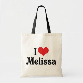 Eu amo Melissa Sacola Tote Budget