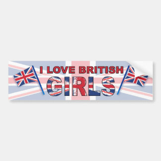 Eu amo meninas britânicas adesivos