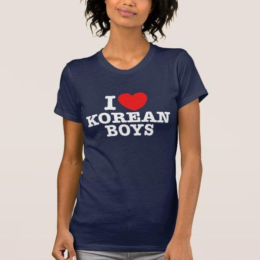 Eu amo meninos coreanos camiseta