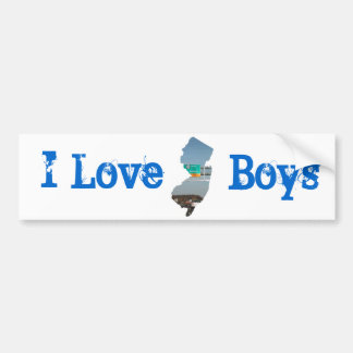 Eu amo meninos do jérsei adesivo para carro