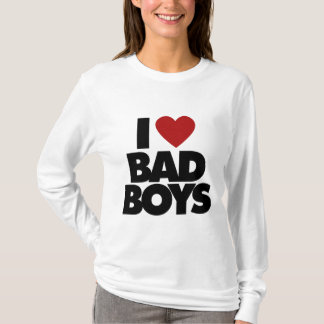 Eu amo meninos maus camiseta