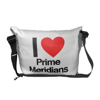 eu amo meridianos principais bolsas mensageiro