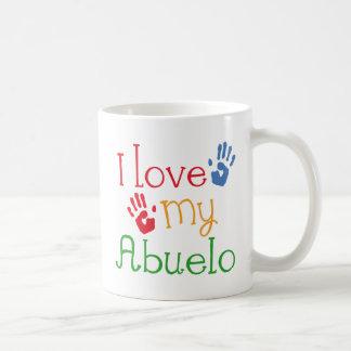Eu amo meu Abuelo (Handprints) Caneca De Café