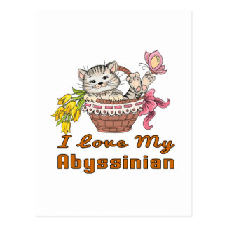 Eu amo meu Abyssinian Cartão Postal