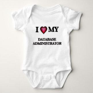 Eu amo meu administrador de base de dados body para bebê
