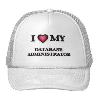 Eu amo meu administrador de base de dados boné