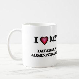 Eu amo meu administrador de base de dados caneca de café