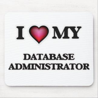Eu amo meu administrador de base de dados mouse pad