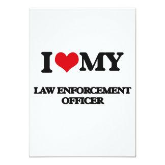 Eu amo meu agente da autoridade convite 12.7 x 17.78cm