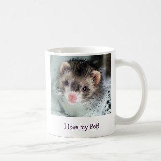 Eu amo meu animal de estimação! caneca de café