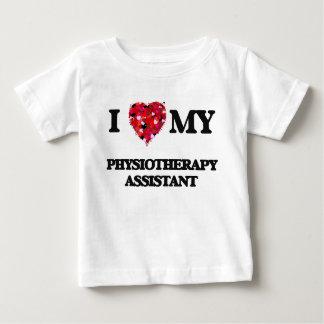 Eu amo meu assistente da fisioterapia camiseta