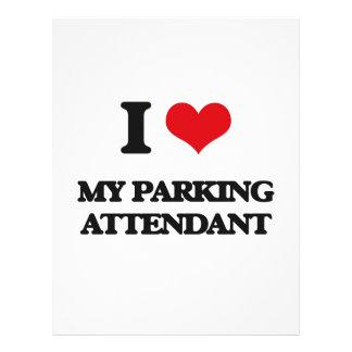 Eu amo meu assistente de estacionamento modelo de panfletos