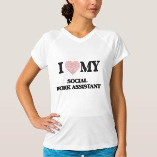 Eu amo meu assistente do trabalho social (coração tshirt