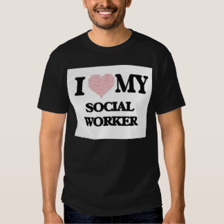 Eu amo meu assistente social (o coração feito das t-shirts