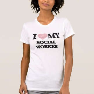 Eu amo meu assistente social (o coração feito das tshirts