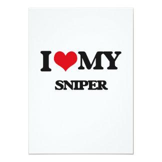 Eu amo meu atirador furtivo convite 12.7 x 17.78cm