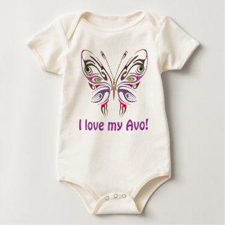 Eu amo meu Avo personalizado Body Para Bebê