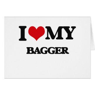 Eu amo meu Bagger Cartão Comemorativo