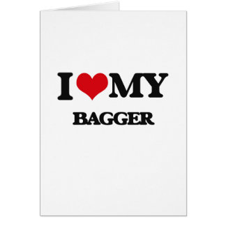 Eu amo meu Bagger Cartoes