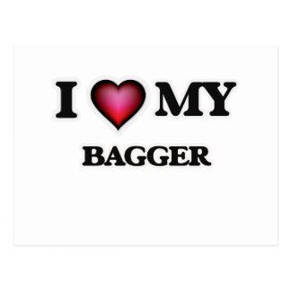 Eu amo meu Bagger Cartão Postal