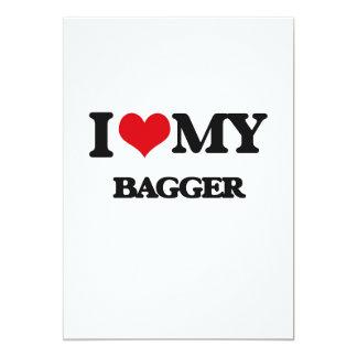 Eu amo meu Bagger Convites