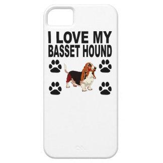 Eu amo meu Basset Hound Capa Barely There Para iPhone 5