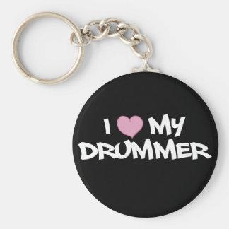 Eu amo meu baterista chaveiro