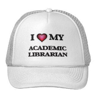 Eu amo meu bibliotecário académico boné