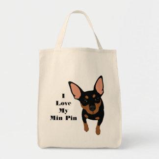Eu amo meu bolsa do cão do Pin do minuto (o PIN