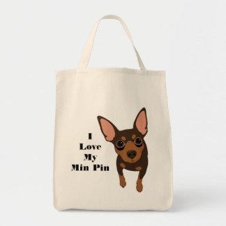 Eu amo meu bolsa do cão do Pin do minuto (o PIN do